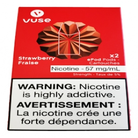 Cartouches 2x Saveur:Fraise 5% de Nicotine
