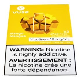 Cartouches 2x Saveur:Mangue 1.6% de Nicotine