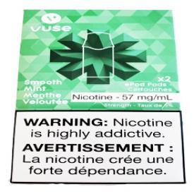 Cartouches 2x Saveur:Menthe Veloutée 5% de Nicotine