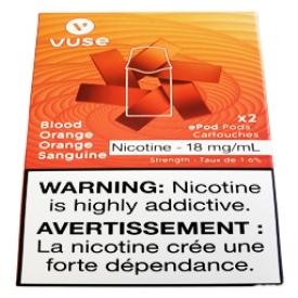 Cartouches 2x Saveur:Orange Sanguine 1.6% de Nicotine