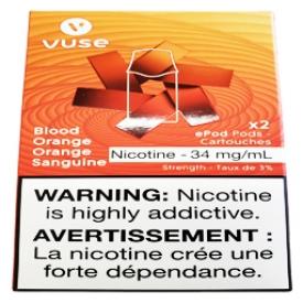 Cartouches 2x Saveur:Orange Sanguine 3% de Nicotine