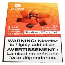 Cartouches 2x Saveur:Orange Sanguine 5% de Nicotine