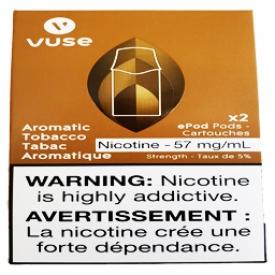 Cartouches 2x Saveur:Tabac Aromatique 5% de Nicotine