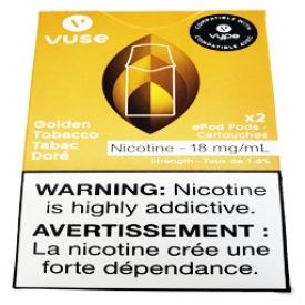 Cartouches 2x Saveur:Tabac Doré 1.6% de Nicotine