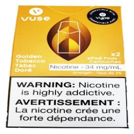 Cartouches 2x Saveur:Tabac Doré 3% de Nicotine
