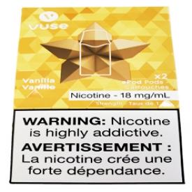 Cartouches 2x Saveur:Vanille 1.6% de Nicotine