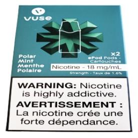 Cartouches 2x Saveur:Menthe Polaire 1.6% de Nicotine