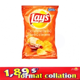 Chips Format Collation Lays BBQ à l'ancienne 66g