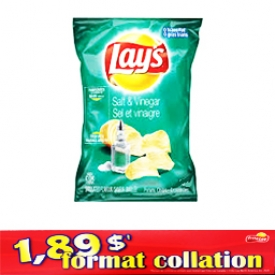 Chips Format Collation Lays Sel et Vinaigre 66g