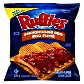 Chips Ruffles BBQ Fumé 220g