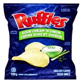 Chips Ruffles Crème sure et oignon 220g