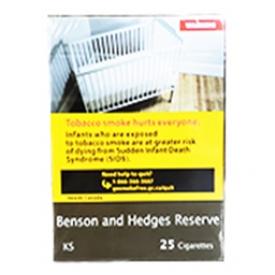 Cigarette Benson and Hedges Reserve KS 25
