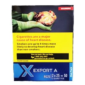 Cigarette Export A Medium RS Paquet Duo 2X25=50