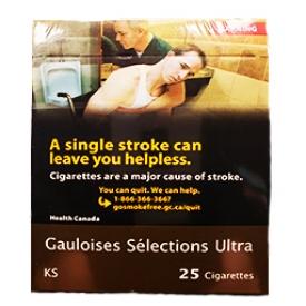 Cigarette Gaulois Selections Ultra KS 25