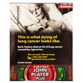 Cigarette John Player Plus Pleine Saveur Rouge KS 25