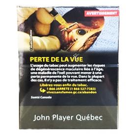 Cigarette John Player Québec KS 25
