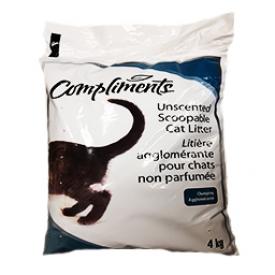 Compliments Litière Agglomérante pour Chats Non Parfumée