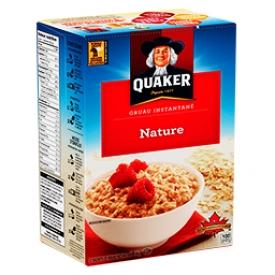 Gruau Instantané Nature Quaker 12 Sachets