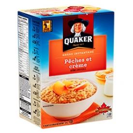 Gruau instantané Pêche et crème Quaker 10 Sachets