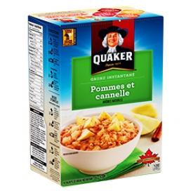 Gruau instantané Pommes et Cannelle Quaker 10 Sachets