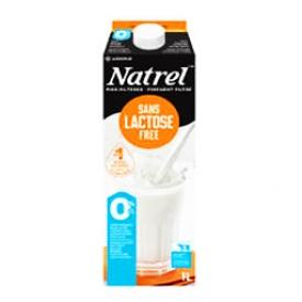 Lait Natrel Sans Lactose 0% 1L