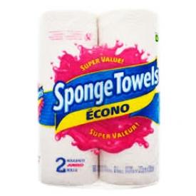 Papier d'essuie-tout Sponge Towels Écono 2 Rouleaux