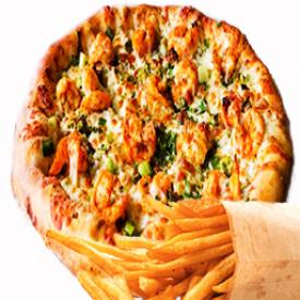 "Trio Pizza Crevette à l'Ail 12"""