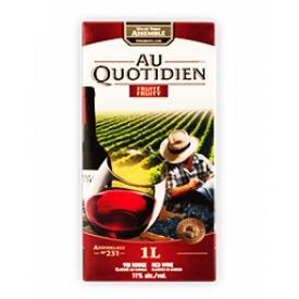 Vin Rouge Au Quotidien du Canada  1L