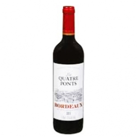 Vin Rouge Les quatre Ponts Bordeaux 2013 de France