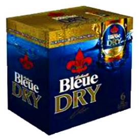Bière Bleue Dry 6.1%alc 6 Bouteilles 341mL