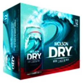 Bière Molson Dry 5.5%alc 12 Canettes 355 mL