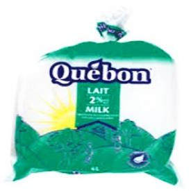 Lait Québon 2% Sac 4L